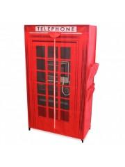 London Phonebox mobil gardrób ruhásszekrény