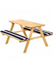 Lorie piknik asztal szett, piknik pad fehér-kék