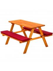 Lorie piknik asztal szett, piknik pad piros