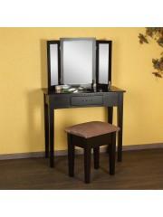 Jago24 Lotty sminkasztal, fésülködőasztal tükörrel és ülőkével 00609