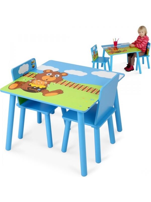 Mackós 3 részes gyerek asztal és szék szett - Gyerekasztal és szék ...
