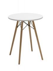 Mavis retro bárasztal, bisztro asztal fehér