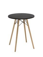 Mavis retro bárasztal, bisztro asztal fekete