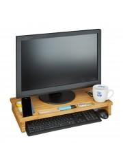 Monitor tartó asztali állvány natúr