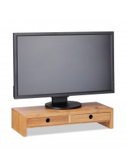 Monitor tartó asztali állvány natúr 2 fiókkal II