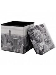 Jago24 New York összecsukható textil puff, tárolós ülőke 00663
