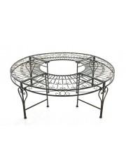 Jago24 Nyima kör alakú antik kerti pad vasból 00691