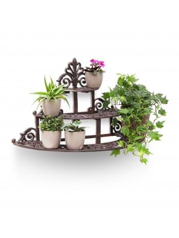 Jago24 Öntöttvas virágtartó polc (kerek) 00723