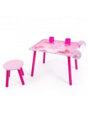 Jago24 Pillangós 2 részes gyerek asztal és szék szett, rajzasztal 00818