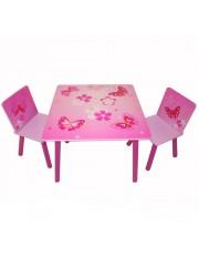 Jago24 Pillangos 3 részes gyerek asztal és szék szett 00820