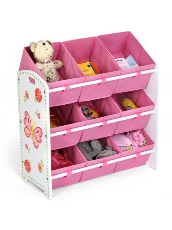 Pillangós játéktároló polc - Gyerek szekrény játék tároló ...