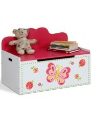 Jago24 Pillangós gyerek tárolós pad, ülőke, lóca 00824