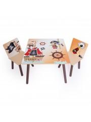 Jago24 Pirat 3 részes gyerek asztal és szék szett 00833