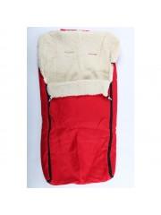 Piros bundazsák, lábzsák Gyapjú béléssel