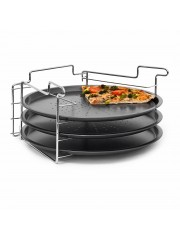 Jago24 Pizzasütő formák állvánnyal (3 db) 00843