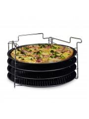Jago24 Pizzasütő formák állvánnyal (4 db) 00844