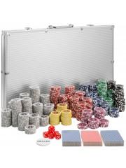 Point4u Póker készlet 1000 db chippel ezüst alumínium táskában 100100705