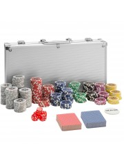 Point4u Póker készlet 300 db chippel ezüst alumínium táskában 100100707
