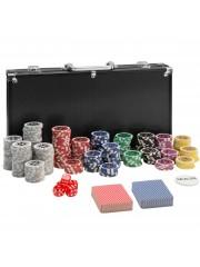 Point4u Póker készlet 300 db chippel fekete alumínium táskában 100100709