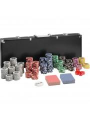 Point4u Póker készlet 500 db chippel fekete alumínium táskában 100100711