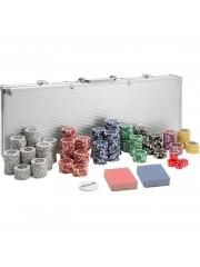 Point4u Póker készlet 500 db chippel ezüst alumínium táskában 100100710