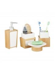 Sabina fürdőszoba szett bambuszból és kerámiából