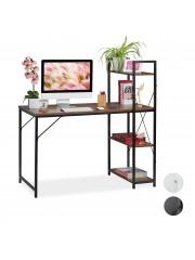 Strib íróasztal, számítógépasztal polcokkal