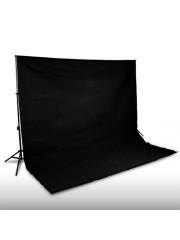 Stúdió háttérvászon 3x3m fekete