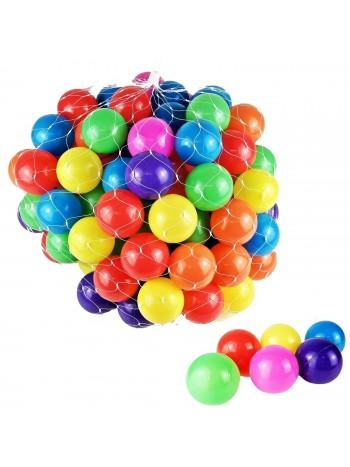 100 DB játszóházi színes játék labda hálóban