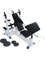 Több funkciós edzőpad fekvenyomó pad súlyokkal
