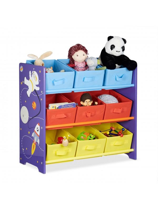 Űrhajós játéktároló polc - Gyerek szekrény, játék tároló ...