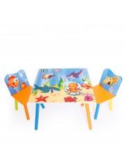 Jago24 Ocean 3 részes gyerek asztal és szék szett 00694